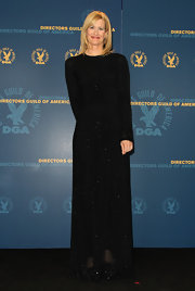 Laura Dern glittered in this black long-sleeve gown for the DGA Awards.