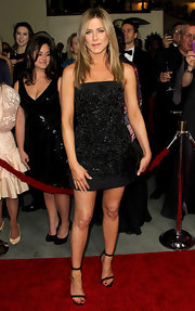 Jennifer Aniston showed the power of her minimalist style in this beaded LBD.