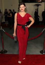 Heather Tom looked lovely at the DGA Awards in this draped crimson gown.
