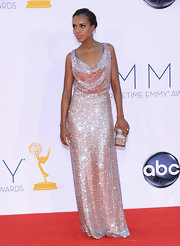Kerry Washington was a dazzling beauty at the Emmys in this disco ball gown.