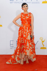 Ginnifer Goodwin was one of the best dressed of the night in her orange applique gown.