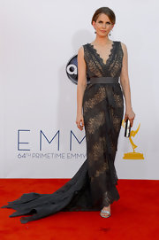 Anna looked old fashioned yet modern in her trained lace gown at the Emmys.