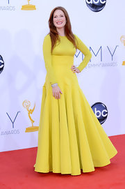 Julianne Moore was one of our favorites in her citrus gown with a classic cut.