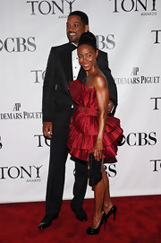 Jada was ravishing in red at the 2010 Tony Awards. The actress paired her look with platform Bianca Pumps.