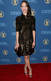 Berenice Bejo took a risk in this bronze and black beaded dress at the DGA Awards.