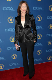 Kathryn Bigelow was one stylish director in this sleek satin blazer and matching pants.