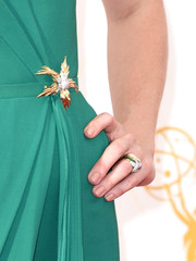 January Jones showed off a gorgeous Tiffany & Co. ring at the 2015 Emmy Awards.