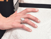 Michelle Dockery kept it simple with a neutral mani.