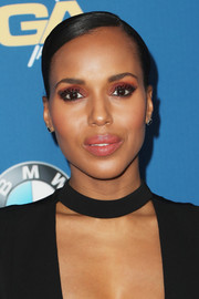 Kerry Washington wore her hair in a slicked-down bun when she attended the Directors Guild of America Awards.