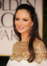 Georgina Chapman wore a pair of long false lashes at the 69th Annual Golden Globe Awards.
