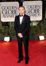 Leonardo DiCaprio looked debonair at the Golden Globes in an elegant black tux.