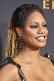 Laverne Cox wore a slicked-back ombre hairstyle at the 2017 Emmys.