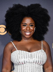 Uzo Aduba kept it natural with this afro at the 2017 Emmys.