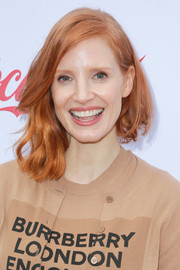 Jessica Chastain took a risk with this messy asymmetrical cut at the Gold Meets Golden party.