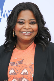 Octavia Spencer showed off perfectly styled feathery waves at the Gold Meets Golden party.