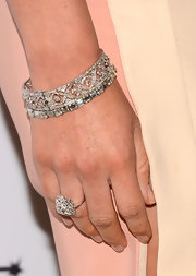 Olivia Munn sparkle with a lovely diamond bracelet at the Television Academy Honors.