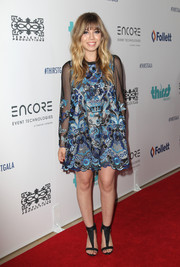 Jennette McCurdy chose an intricately embroidered mesh dress for her Thirst Gala look.