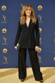 Felicity Huffman ditched the gown in favor of this double-breasted pantsuit when she attended the 2018 Emmys.