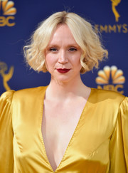 Gwendoline Christie sported a cute curled-out bob at the 2018 Emmys.