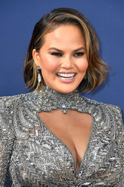 Chrissy Teigen kept it cute with this half-tucked bob at the 2018 Emmys.