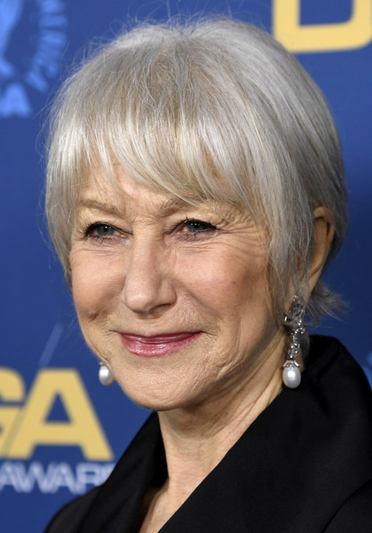 Helen Mirren went for a short style with wispy bangs when she attended the 2019 Directors Guild of America Awards.