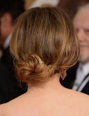 Julie Delpy wore an elegant loose bun when she attended the Golden Globes.