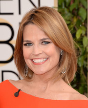 Savannah Guthrie kept it simple yet classic with this mid-length bob when she attended the Golden Globes.