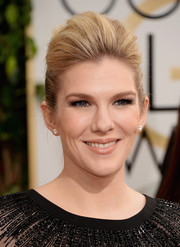 Lily Rabe fixed her hair into a sophisticated pompadour for the Golden Globes.