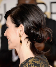 Julianna Margulies looked divine at the Golden Globes wearing her hair in a wispy chignon.