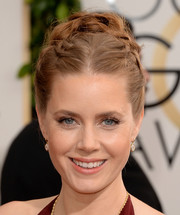 Amy Adams was hippie-glam with her braided updo at the Golden Globes.