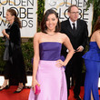 Aubrey Plaza in Oscar de la Renta at the 2014 Golden Globe Awards