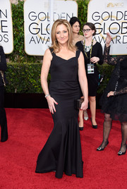 Edie Falco opted for a more low-key version of the mermaid gown when she attended the Golden Globes.