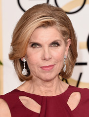 Christine Baranski kept it classic with this bob at the Golden Globes.