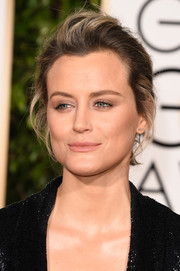 Taylor Schilling attended the Golden Globes rocking a just-got-out-of-bed updo.