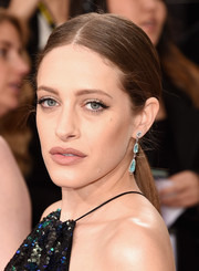 Carly Chaikin rocked a slicked-down, center-parted ponytail at the Golden Globes.