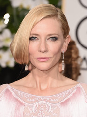 Cate Blanchett styled her hair into a half-pinned faux bob for the Golden Globes.