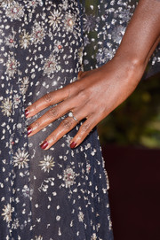 Viola Davis chose garnet nail polish for the Golden Globes.