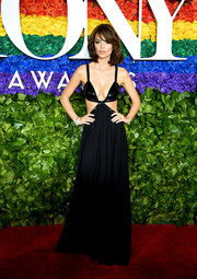 Emily Ratajkowski brought some sex appeal to the 2019 Tony Awards red carpet with this skimpy black cutout gown by Michael Kors.