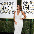 Gina Rodriguez in Naeem Khan at the Golden Globes