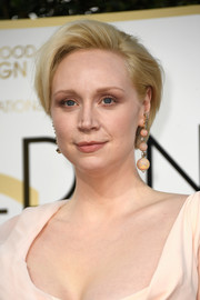 Gwendoline Christie stuck to her short, side-parted cut when she attended the Golden Globes.