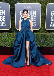 Gemma Chan gave us princess vibes with this blue Valentino Couture ball gown at the 2019 Golden Globes.