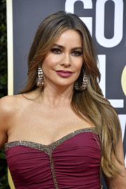 Sofia Vergara wore her long locks in a feathered flip at the 2020 Golden Globes.