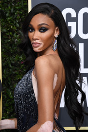 Winnie Harlow looked gorgeous with her long wavy hairstyle at the 2020 Golden Globes.