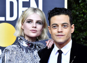 Lucy Boynton sported silver nail polish to match her dress at the 2020 Golden Globes.