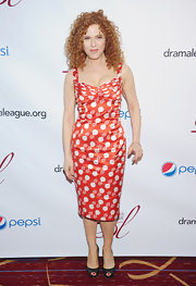 Bernadette Peters arrived at the Drama League Awards in a peppy polka-dot print dress.