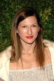 Jenna Lyons showed off her red lips which had a slight touch of orange to them. She kept the rest of her look neutral and let her pout take center stage.