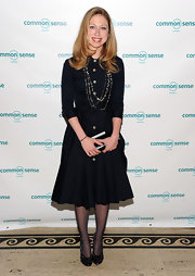 These layered beaded necklaces were the perfect amount of shine on Chelsea Clinton's all-black ensemble.