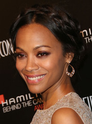 Zoe Saldana looked adorable with her crown braid at the Hamilton Behind the Camera Awards.