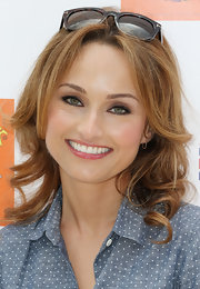 Giada De Laurentiis looked pretty, as always, with this shoulder-length curly 'do at the Kidstock Music and Art Festival.