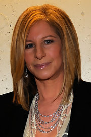 Barbra Streisand finished off her Academy Awards look with a sleek layered 'do.